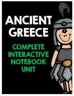 Ancient Greece: Complete Interactive Notebook Social Studies Unit.  84 Pages of resources, lessons, activities, and projects!
