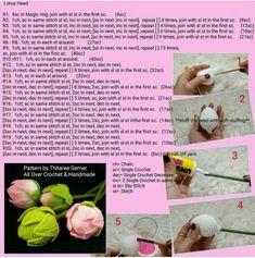 석가탄신일 맞이 손뜨개 연꽃 도안 - 백련ㆍ홍련 : 네이버 블로그 Crochet Flower Tutorial, Crochet Flower Patterns, Crochet Flowers, Crochet Brooch, Crochet Earrings, Crochet Hats, Magic Ring, Handicraft, Lotus