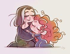 Chibies Queen Elinor and Princess Merida by *princekido on deviantART