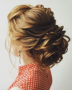 gorgeous braid with messy updo