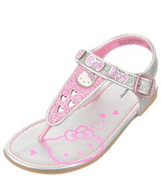 These Hello Kitty sandals go for maximum glitter. Bow Sandals e6ef4d98aa5a7
