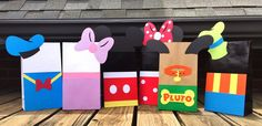 Mickey Mouse Party Favor Bags - 6 Mickey Mouse Clubhouse Bags - Disney Party Favor Bags - Mickey Mouse Loot Bags - Disney Character Bags by GreyMonet on Etsy https://www.etsy.com/listing/236969578/mickey-mouse-party-favor-bags-6-mickey