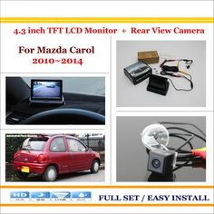 """For Mazda Carol 2010~2014 - 4.3"""" TFT LCD Monitor + Car Rearview Back Up Camera = 2 in 1 Car Parking System"""