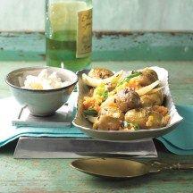 Aardappelen met venkel en linzen uit de oven
