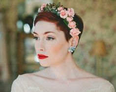 Short Pixie Bridal Hairstyle