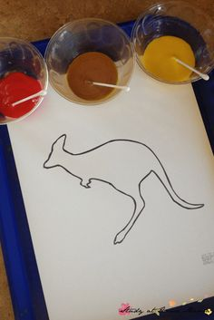 Australian Dot Painting: Materials needed to try this easy Australia craft for kids