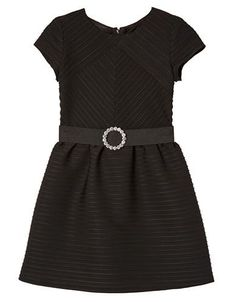 Brands | Dresses | Girls 7-16 Ribbed Party Dress with Crystal Belt | Lord and Taylor