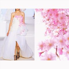 Blog PHOTO & L' ART  • Giambattista Valli Fall 2013. Photo by vogue.ru • & • The Cherry blossom. Photo via www.artfile.ru •  Dress: @giambattistapr #GiambattistaValli All collages by tag ;)  #LiliyaHudyakova