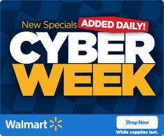 WALMART $$ Cyber Week: New Specials Added Daily! Walmart Deals, Best Black Friday, Holiday Deals, Online Deals, Ads, Shopping Deals