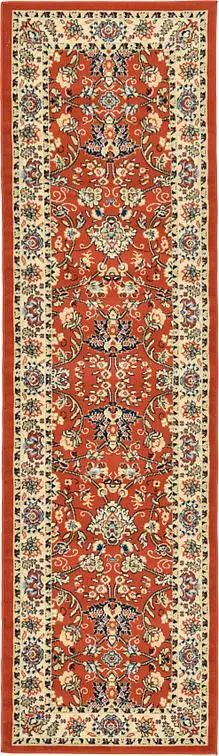 Terracotta Kashan Design Area Rug