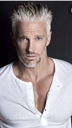 Michael Justin - Just Fine Men Handsome Men Quotes, Handsome Older Men, Handsome Arab Men, Scruffy Men, Older Mens Hairstyles, Haircuts For Men, Silver Foxes Men, Grey Hair Men, Grey Beards