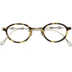 Eyevan7285 round frame glasses ($1,005) ❤ liked on Polyvore featuring accessories, eyewear, eyeglasses, brown, unisex glasses and brown glasses