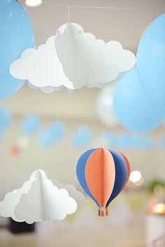 Anton's Preppy Transportation Themed Party – Ceiling Details