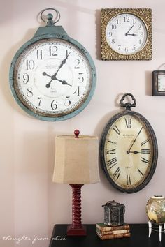 Thoughts from Alice: Clock Gallery Wall and an ASCP Dresser Makeover