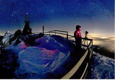 Sommet du Mont Pilate (LU), en plein hiver sous la nuit étoilée.  Image: Alessandro Della Bella/Keystone
