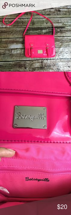 """Betseyville Crossbody bag Super cute bag, in good pre owned condition! Approximately 9""""width x 6 1/2"""" height x 2 1/4"""" depth. Light scuffs and staining. See pics. Betsey Johnson Bags Crossbody Bags"""