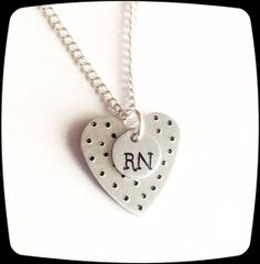 HandStamped Jewelry RN Medical Staff Medical by ThatKindaGirl, $16.00