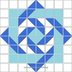 Make quilts come to life with visual illusions created by using half square triangles. Nancy Zieman will share her No Hassle Triangle Gauge method to create Illusion Quilts.Illusion Quilts Made Easy: Slip Knot Quilt Pattern Barn Quilt Designs, Barn Quilt Patterns, Patchwork Patterns, Pattern Blocks, Quilting Designs, Quilting Patterns, Quilting Ideas, Sewing Patterns, Simple Quilt Pattern