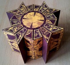 Hellraiser - Lemarchand Puzzle Box Paper Model - by Destro2k - == -  From Hellraiser, the classic horror movie, here is the Lemarchand Puzzle Box, in a perfect paper version created by designer Destro2K. A really nice decorative paper model.