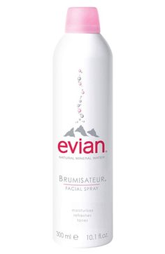 Evian++Facial+Water+Spray $12-$17.50. I discovered this a few years back. My mother is a master aesthetician, and she is used this to set makeup after application and it cools me off during the summer. This is so moisturizing and it feels great. I wouldn't trade this for the world! It comes in handy for so many things.