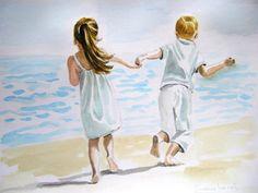 """""""Dos hermanos corriendo por la arena"""""""