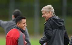 Alexis Sanchez 'kisses' Arsenal badge during open training session ahead of Community Shield clash with Chelsea