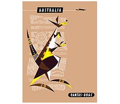 Qantas Retro Poster Australia (Limited Edition)