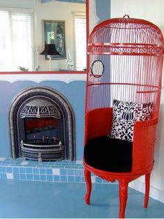 fräck röd stol
