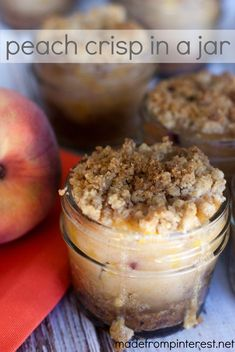 Peach Crisp in a Jar.