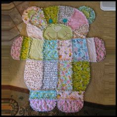 Dollar Store Crafter: Teddy Bear Baby Quilt