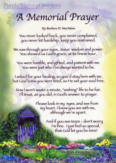 A Memorial Prayer