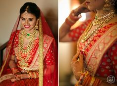 bridal jewelry for the radiant bride Saree Wedding, Wedding Attire, Bridal Sarees, Bridal Looks, Bridal Style, Indian Jewellery Design, Gold Jewellery, Indian Jewelry, Saree Jewellery