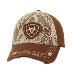 664ccfa70f90d Ariat® Women s Brown and Lace Ball Cap  1514802   Cowgirl Hats