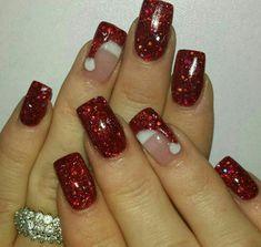 ♡☆ Santa hat nail Art ☆♡