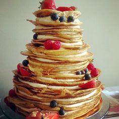 28 Yummy Pancake Wedding Cakes | HappyWedd.com