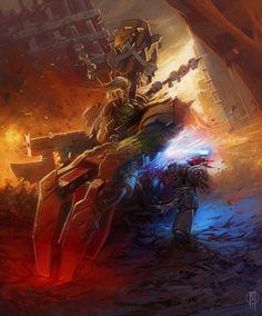 WarHammer - Templar Marine by RUshN.deviantart.com on @deviantART