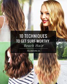 10 Techniques to Get Surf-Worthy Beach Hair