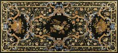 An Italian polychrome decorated scagliola table top, on a faux walnut and parcel-gilt base probably second half 19th century  SOLD. 97,250 GBP