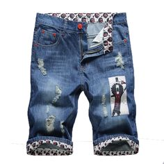 2016 Spring summer jeans male fashion mens jeans capris denim shorts men  Factory Price jean shorts · Primavera VerãoBermuda ... 01b315555ac