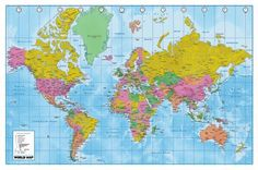 115 best world map images on pinterest antique maps etchings and maps world map political terrain art poster print gumiabroncs Choice Image
