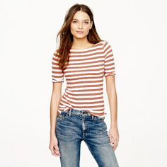 Painter elbow-sleeve boatneck tee in nautical stripe - knits & tees - Women's new arrivals - J.Crew