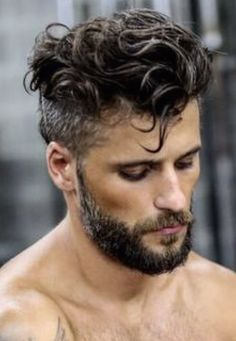 The beard is the one thing that makes any hairstyle look fabulous when combined with them. Check out these 2 amazing Curly Hairstyle and Beard styles that add the oomph factor in your appearance. Undercut Curly Hair, Wavy Hair Men, Undercut Men, Haircuts For Curly Hair, Curly Hair Cuts, Undercut Hairstyles, Boy Hairstyles, Cool Haircuts, Haircuts For Men
