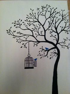 tree painting (to replace my old tree painting...can't wait! :)