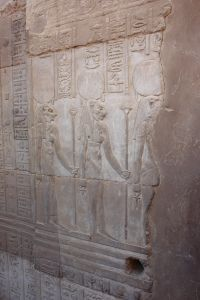 Relief of Menhit at the temple of Kom Ombo.