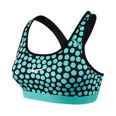 Women's Nike Pro Classic Dot Sports Bra (98 BRL) ❤ liked on Polyvore featuring activewear, sports bras, shirts, bras, sport, nike, sports bra, polka dot shirts, moisture wicking shirts and spotted shirt