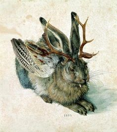 The first Jackalope? Wolpertinger. A mythical Bavarian creature by Durer.