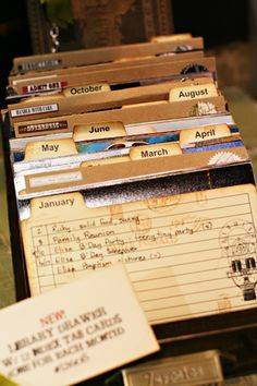 Fun way to store old postcards