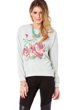 ShopSosie Style : Needle Rose Sweater  #needlepoint