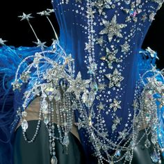 That is a lot of sparkle... appreciate the use of mesh to keep silhouette. Detail of Kylie's Mr Pearl corset.