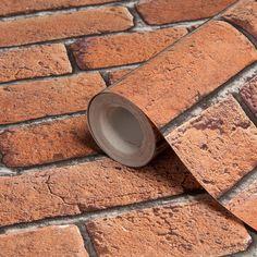 Brick Effect Red Wallpaper | Departments | DIY at B&Q